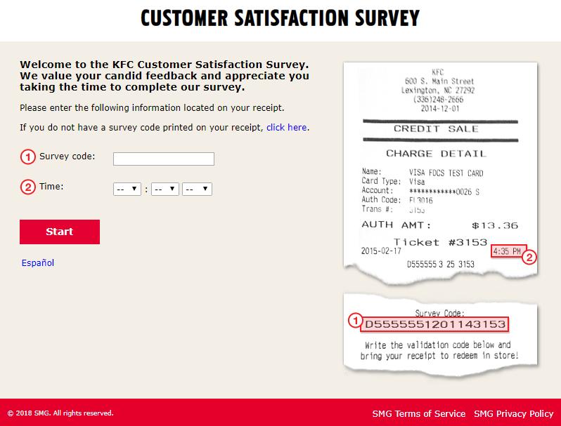 My KFC Experience Survey