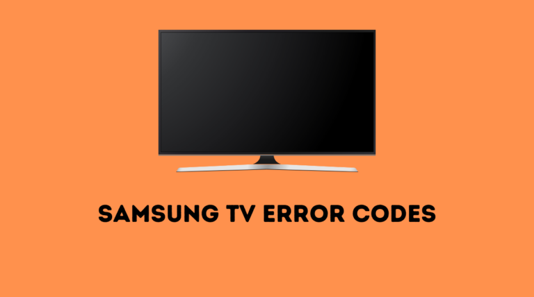 Samsung TV error codes