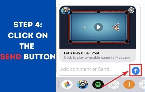 Play 8 Ball Pool Game in iMessage on iPhone