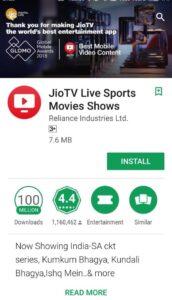 Jio TV Username and Password