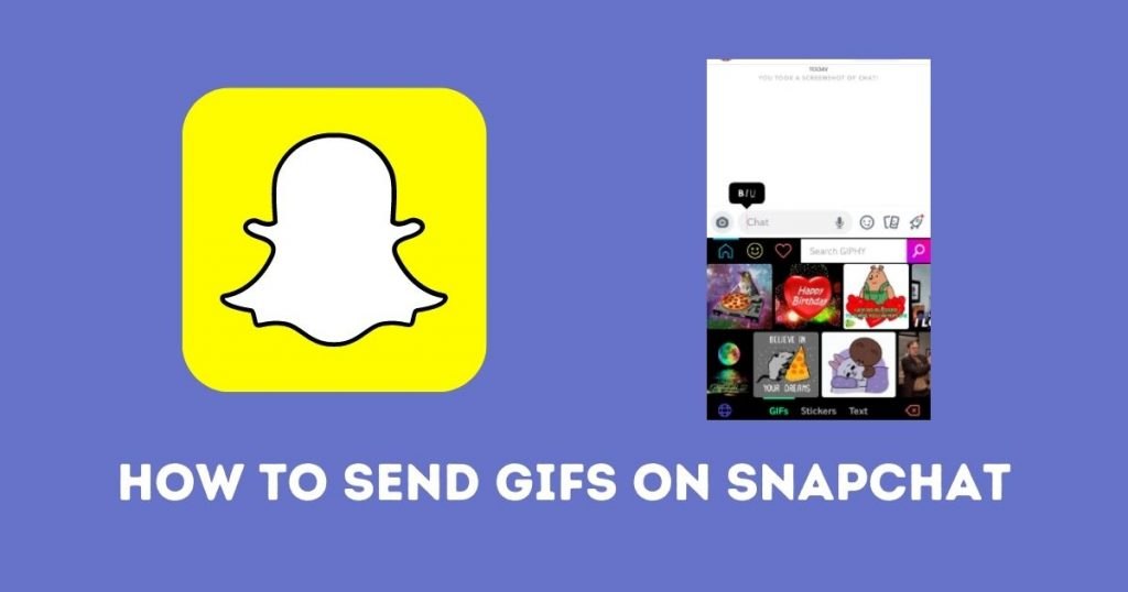 How to send GIFs on Snapchat