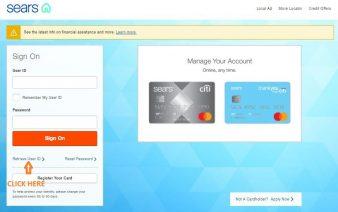 Sears Credit Card Retrieve User ID