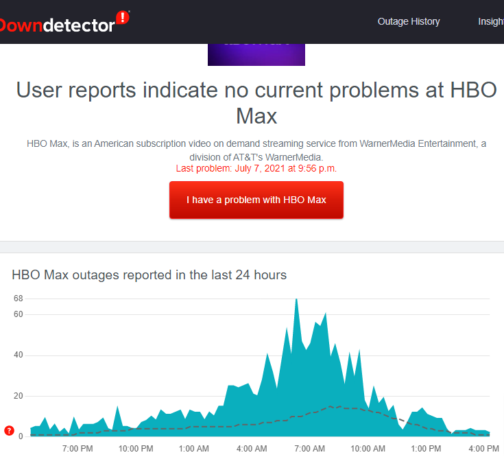 hbo max streaming issues
