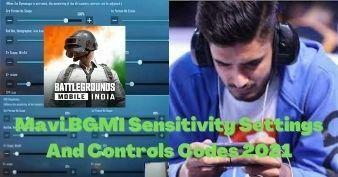 MAVI BGMI Sensitivity Settings And Controls Codes 2021