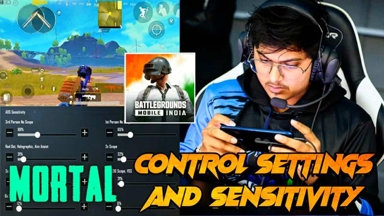 Mortal BGMI Sensitivity Settings And Controls