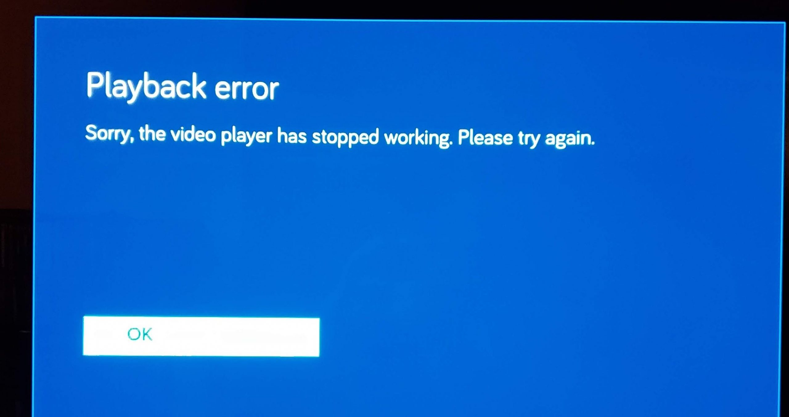 vudu playback error